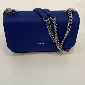 New DKNY Small Blue Shoulder Crossbody MSRP: $178